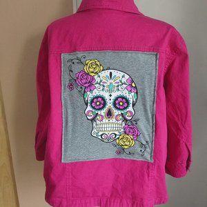 Hot Pink Sugar Skull Jacket